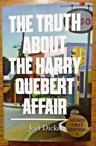 Signed-Joel-Dicker-Truth-About-The-Harry-Quebert-Affair-Autographed-1st-H-B-book