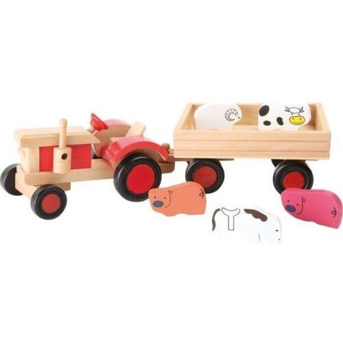 Tiere Holz Holztraktor Trekker Trecker Kinder Holzfahrzeug Bauernhof Fahrzeuge Holzspielzeug Traktor