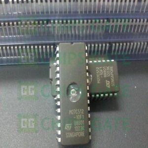1PCS-M27C512-10F1-IC-EPROM-UV-512KBIT-100NS-28CDIP-ST