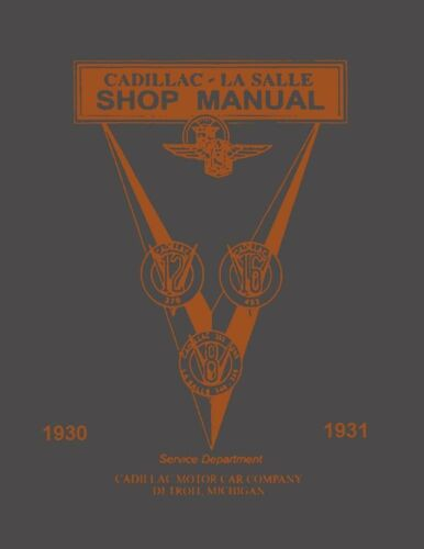 1930 1931 Cadillac Lasalle Service Shop Repair Manual Engine Drivetrain Wiring