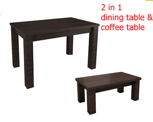 Image Is Loading EXTENDABLE QUALITY LARGE COFFEE TABLE DINING TABLE 2
