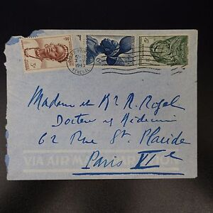Aof-Africa-Occidentale-Francese-Lettera-Cover-Cad-Dakar-Principale-Senegal-1949