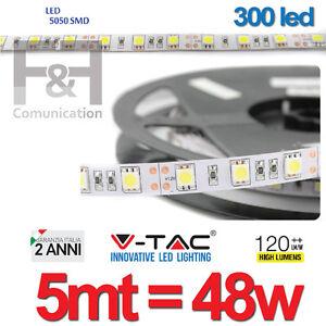Striscia a luce led adesiva smd 5050 strip 5 metri 300 led for Striscia led adesiva