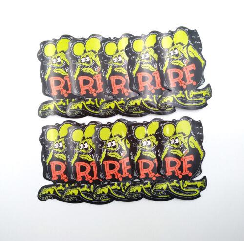 10Pcs Rat Fink Decal Ed Roth Vinyl Vintage Big Daddy Car Laptop Bike Stickers