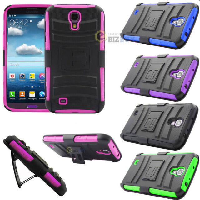For Samsung Galaxy Mega 6.3 Combo Armor Rubber Hard Stand Case Cover w/ Holster