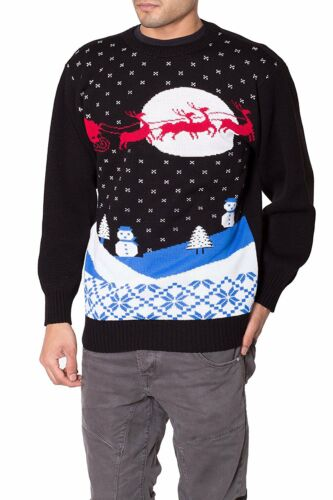 NOROZE Mens Unisex Gingerbread Knitted Novelty Classic Christmas Jumper Pullover