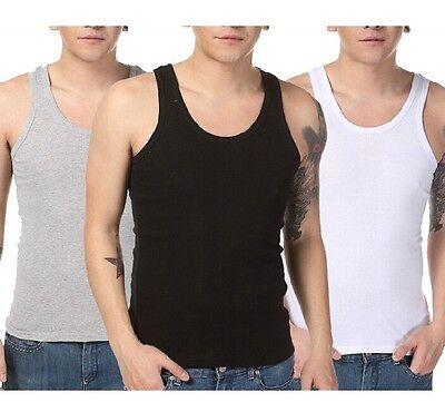 FD1747 Men's Cotton T-Shirts Tank Top Muscle Sleeveless Tee 3 Colors XL-3XL 1pc