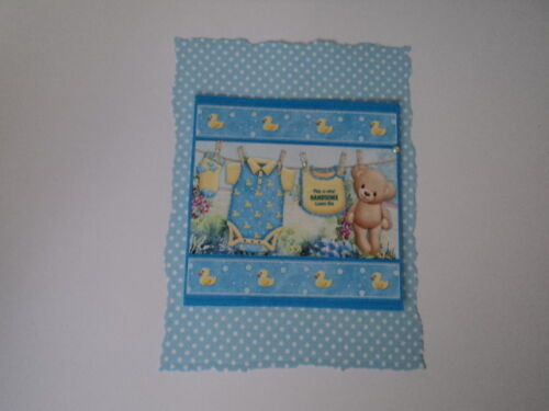 CRAFTS PK 2 TEDDY WASHING LINE EMBELLISHMENT TOPPERS FOR CARDS