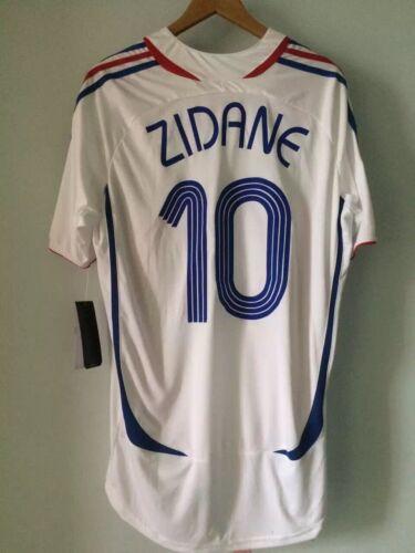Sizes S M L XL FRANCE AWAY RETRO SHIRT WORLD CUP 2006 ZIDANE