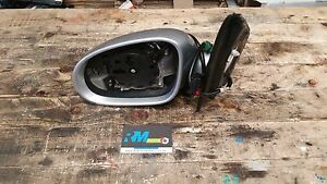 VW-GOLF-MK5-PASSENGER-SIDE-WING-MIRROR-IN-SILVER-LA7W-WITHOUT-GLASS