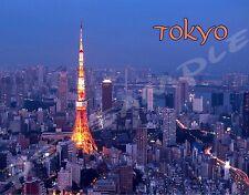 Japan - TOKYO TOWER Skyline - NIGHT - travel souvenir FLEXIBLE fridge magnet