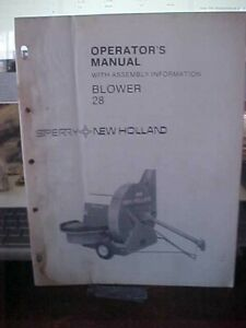 New Holland Blower 28 w/Assembly Information    (1i)