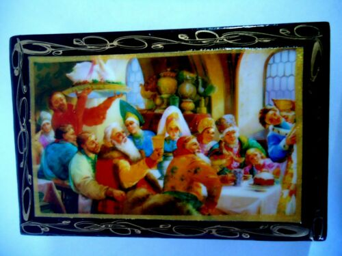 NEW Russian Hand Made Lacquer Jewelry Box with Hand Painting Made In Russia