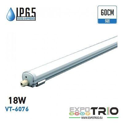 PLAFONIERA A LED TUBO 60 CM 18W IP65 IMPERMEABILE PER ESTERNO V TAC VT-6076
