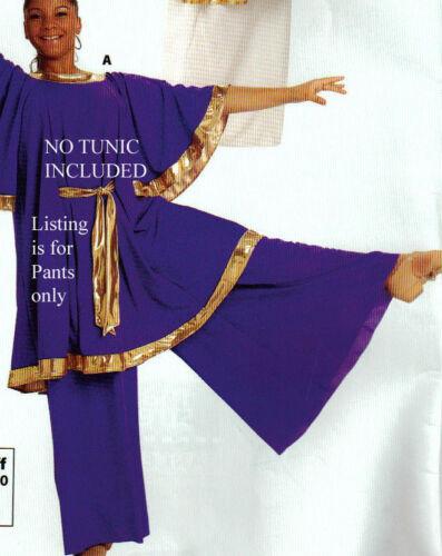 PRAISE LITURGICAL Church DANCE Palazzo Pants Purple Adult Praisewear crepe