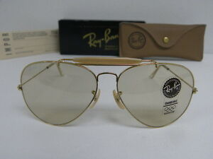 bad8e37d5bb New Vintage B L Ray Ban Outdoorsman II Gold Changeable Brown 62mm ...