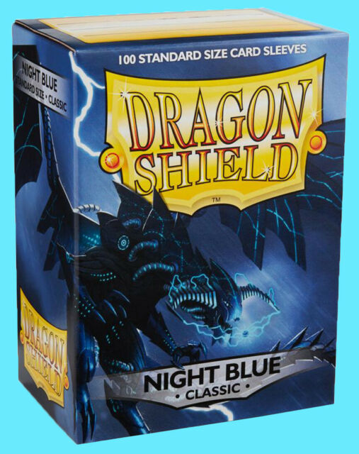 100 DRAGON SHIELD CLASSIC Standard Size NIGHT BLUE Card Sleeves deck protector
