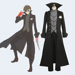Details About Persona 5 Joker Protagonist Cosplay Costume Outfit Coat Suit Jacket Top Cloak