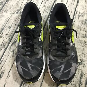 b37747d26eaa5 Brooks Mens Launch 3 Running Athletic Shoes Sz 11.5 Yellow Black ...