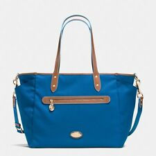 NWT Coach Blue Sawyer Baby Diaper Bag Large Tote New 37758   ($395)