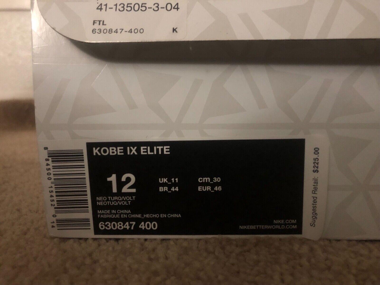 Mens basketball shoes size 12 kobe 9 elite perspective