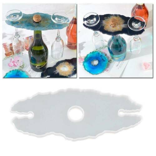 Silicone Wine Glass Holder Resin Casting Mold Cup Coaster Epoxy Mould DIY Craft