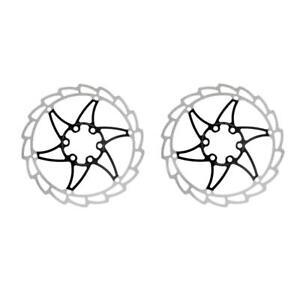 2x-Rotor-de-Freno-de-Disco-Bicicleta-Bici-MTB-Acero-Inoxidable-12x-Perno-T25