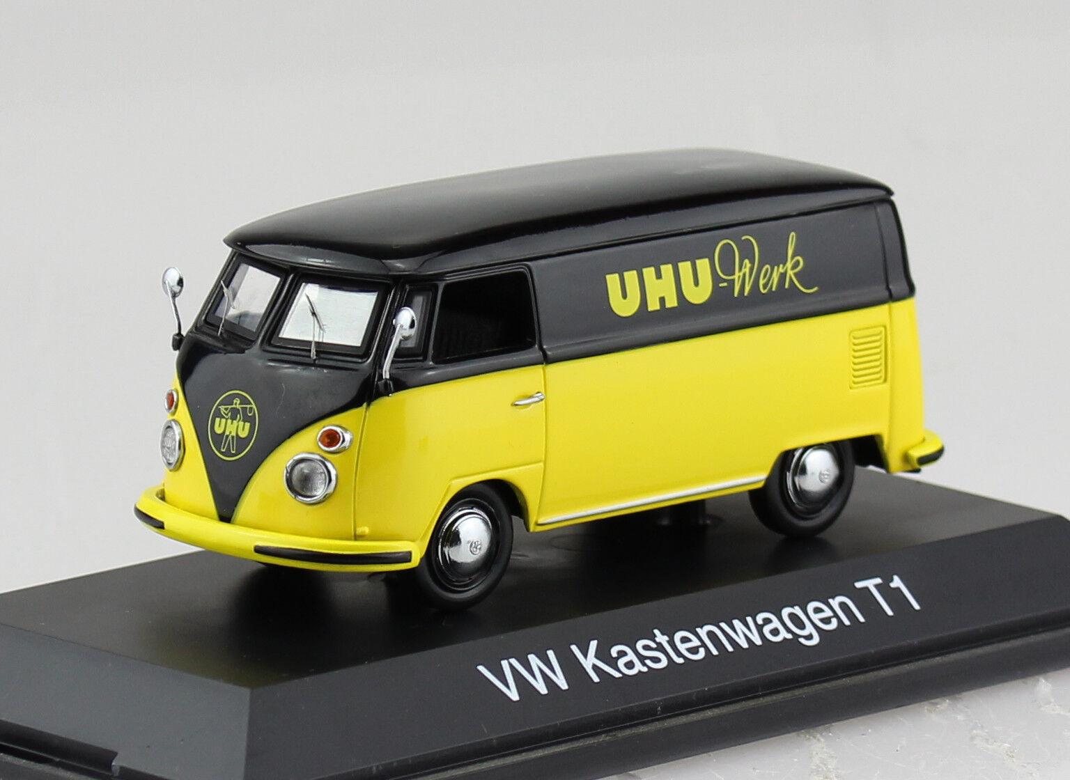 VW t1 Cassetta carrello UHU 1 43 Schuco modello di auto 02575