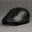 Men-Real-Genuine-Leather-Cowhide-Warm-Beret-Dad-Hats-Fashion-Ivy-Cap-Earlap-Cap miniature 8