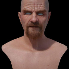 Breaking Bad Walter White Heisenberg Silicone Mask Ultra Real SPFX MADE TO ORDER