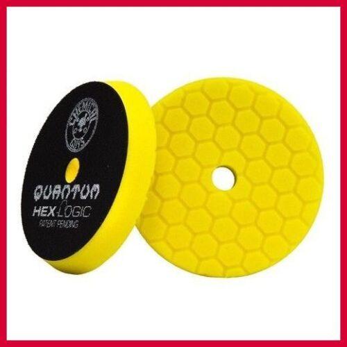 "BUFX111HEX5-2 Chemical Guys 5.5/"" Hex-Logic Quantum Yellow Heavy Cutting Pad"