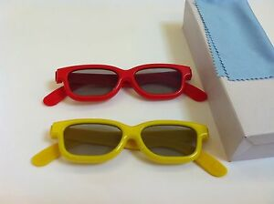 Two-Pairs-Kids-VIZIO-3D-Glass-For-VIZIO-Passive-polarized-3D-TV-and-Blu-ray-DVD