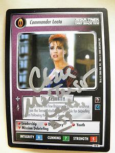 Dabo Girl Chase Masterson Autographed  2E  Leeta