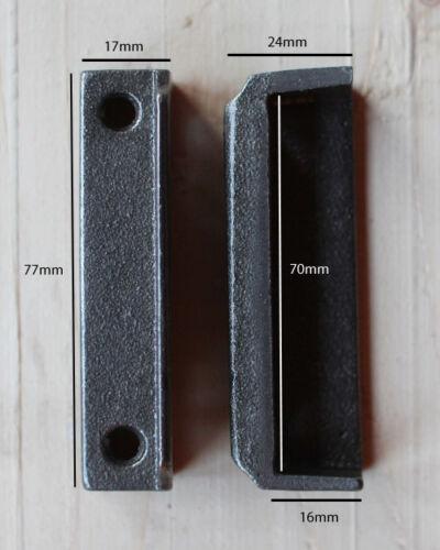 CAST IRON RIM LOCK DOOR KEEP 77mm ~ BRITISH MADE VICTORIAN RIMLOCK KEEPS ~ KP10