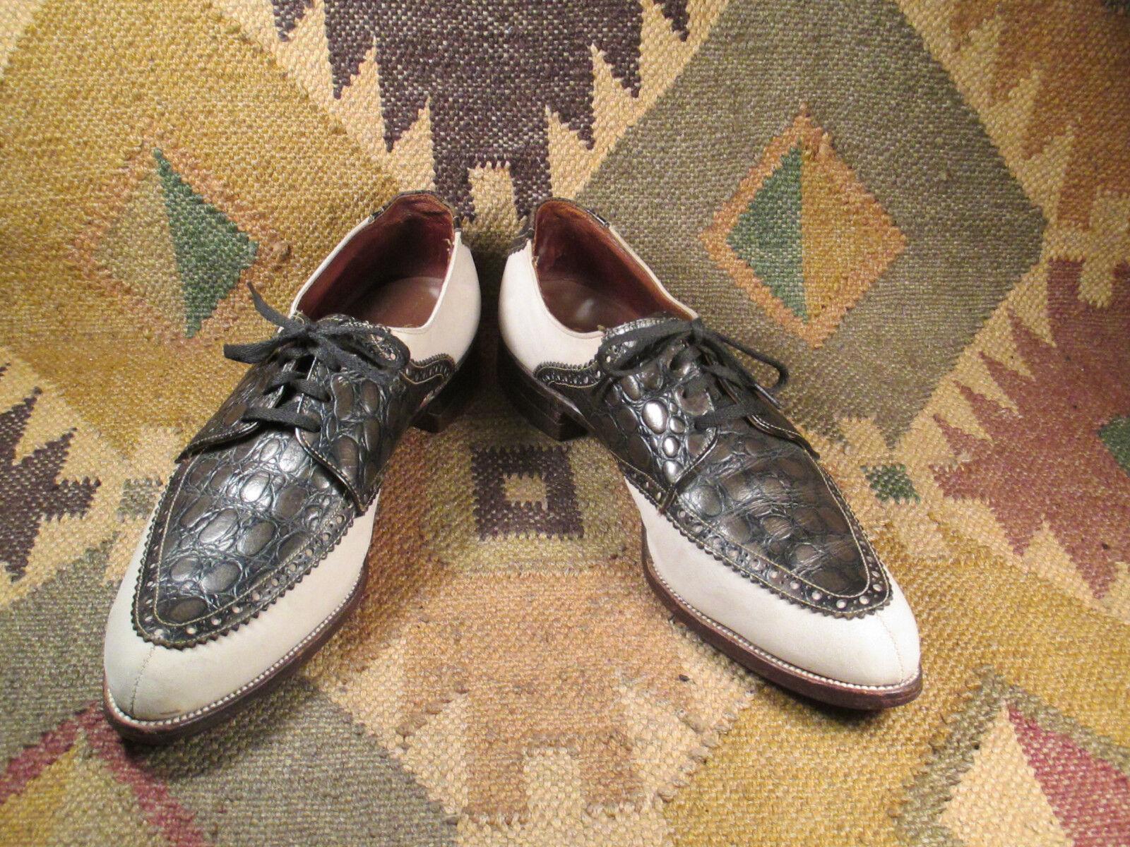 Scarpe casual da uomo  Rare Vintage Packard Nubuck Leather Shoes Sz 8.5 B/D