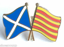 Scotland & Catalonia Spain Flags Friendship Courtesy Enamel Lapel Pin Badge