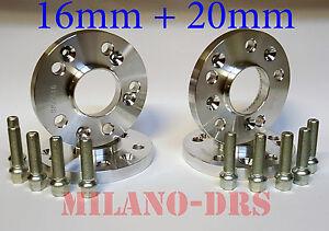 2019 DernièRe Conception Kit 4 Distanziali Ruota 16+20mm Alfa Romeo 147 Bullone Conico Belle Et Charmante