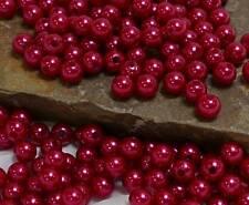 100 Perlen perlmutt rot Hochzeit Wachsperlen 8mm Perle Dekoperlen Bastelperlen