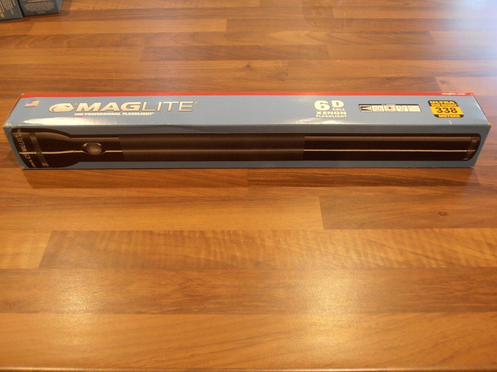 Maglite Torcia 6 D Cell Nero Nuovo con Scatola