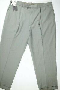 Pantalones De Vestir Para Hombre Slates Gray Houndstooth Plisada Con Puno 42x32 Nuevo Con Etiquetas Ebay