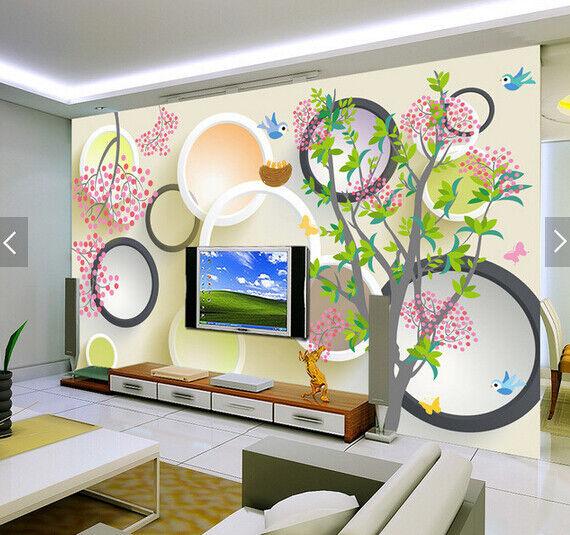 3D Bird Fruit Trees 7 Wall Paper Murals Wall Print Wall Wallpaper Mural AU Lemon