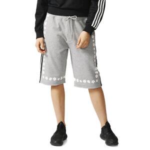 Adidas-Pharrell-Williams-Kauwela-Long-Unisex-Shorts-Grey-Floral-AO2997-NEW