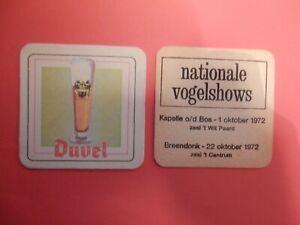 1 datumviltje   DUVEL NATIONALE VOGELSHOWS  1972                       /