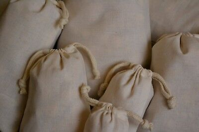 Select Quantity 6x10 Inches Organic Cotton Muslin Bags with Double Drawstring