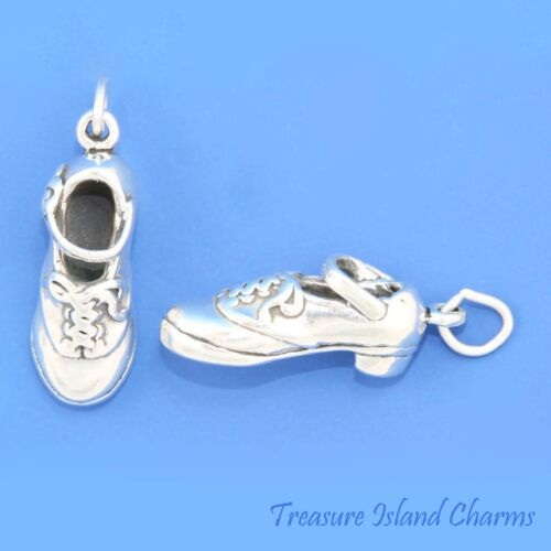 Irish dur TAP DANCE dancing Mary Jane Chaussures 3D .925 Solid Sterling Silver Charm
