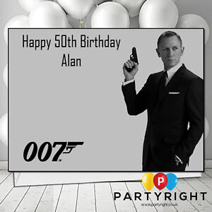 Details About Personalised James Bond 007 Birthday Card A5 Glossy