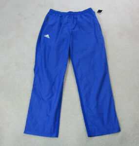 NEW-Adidas-Windbreaker-Pants-Adult-Extra-Large-Blue-White-Spell-Out-Mens-90s