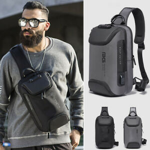 TSA-Lock-Charging-Port-Water-Resistant-Chest-Pack-Sling-Bag-One-Strap-Backpack