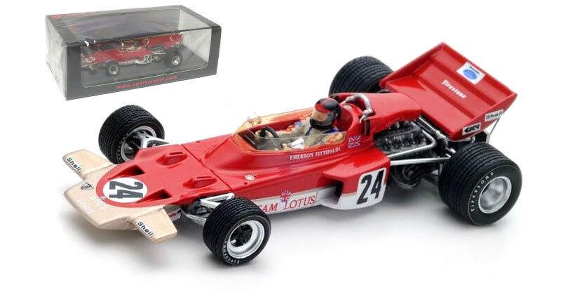 SPARK S5345 Lotus 72 C  24 Winner US GP 1970-Emerson Fittipaldi échelle 1 43