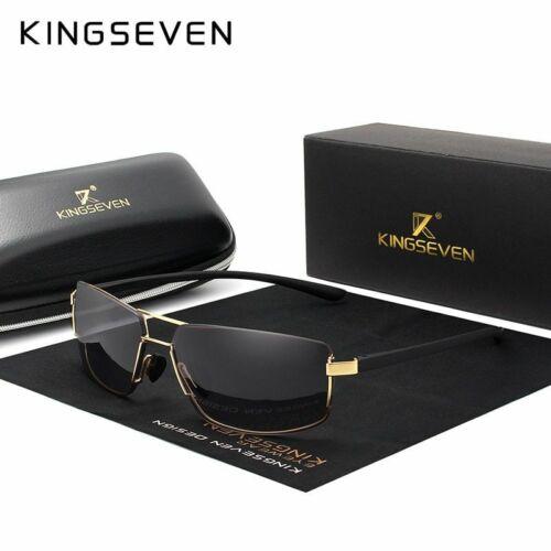 Men Driving Square Frame Sun Glasses Male Brand Design Sunglasses New KINGSEVEN
